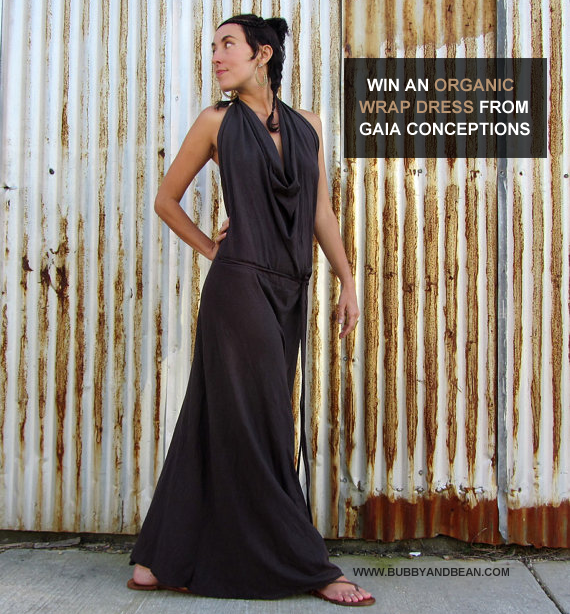 GIVEAWAY // Win An Organic Long Apron Wrap Dress From Gaia Conceptions and Bubby & Bean