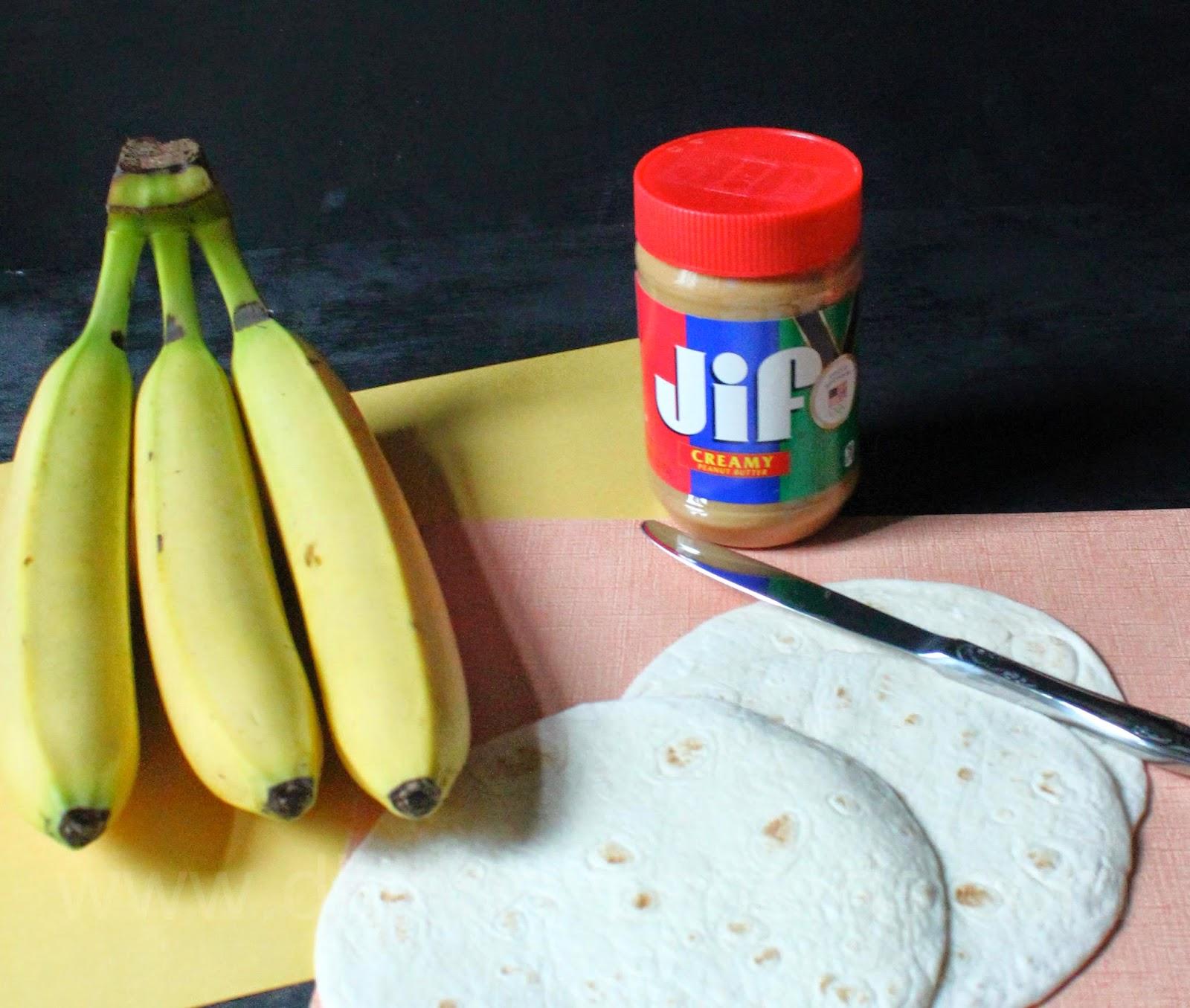 Peanut Butter Banana Roll ups