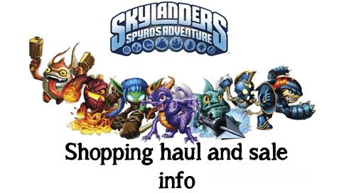 Skylanders shopping haul and deal info.