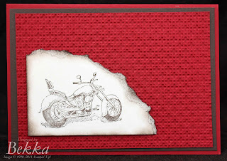 Stampin' Up! Motorcycle Stamp