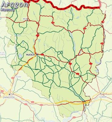 Huesca Mapa Ciudad de la Región