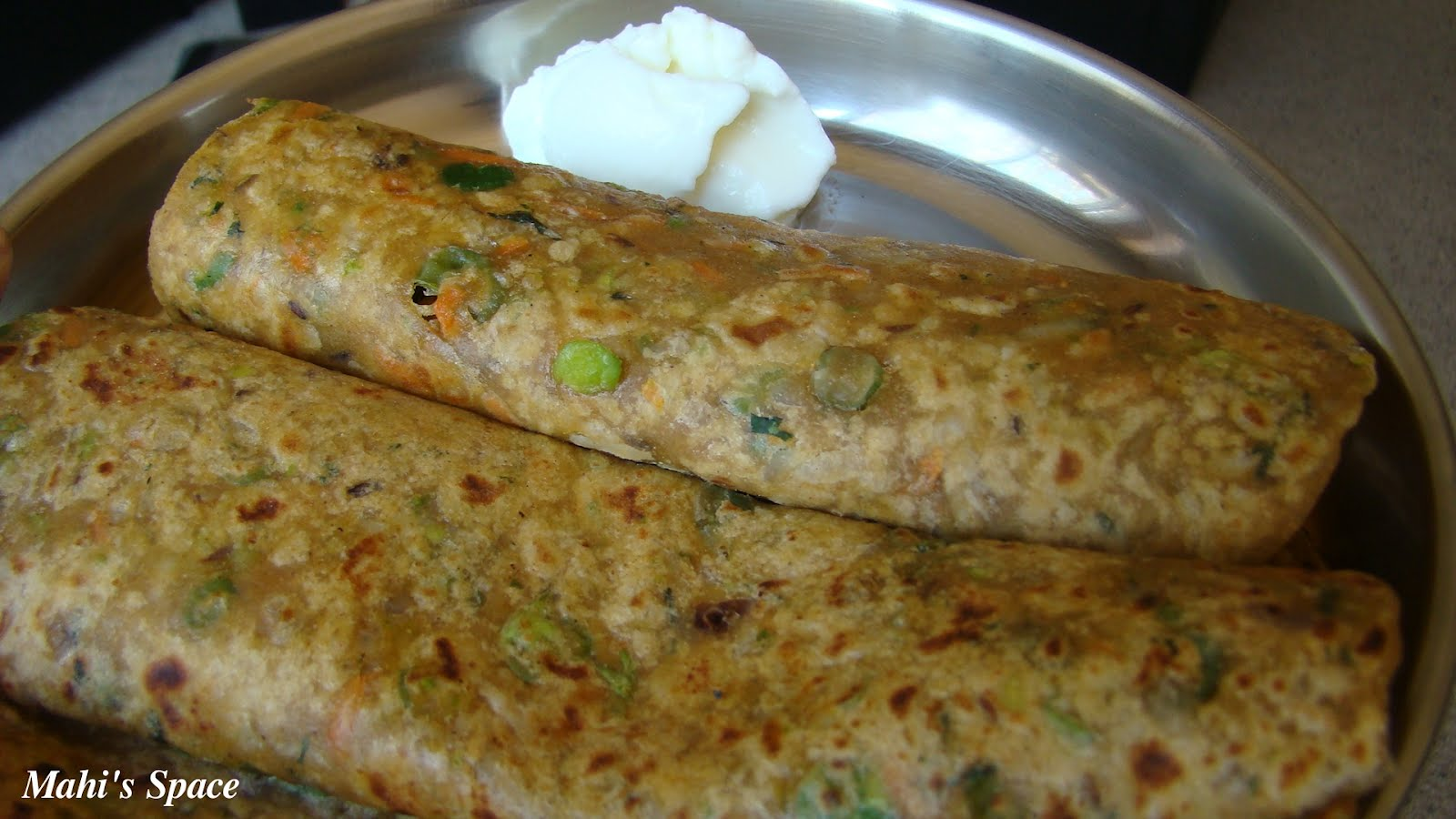 Vegetable Paratha ~ Mahi's Kitchen