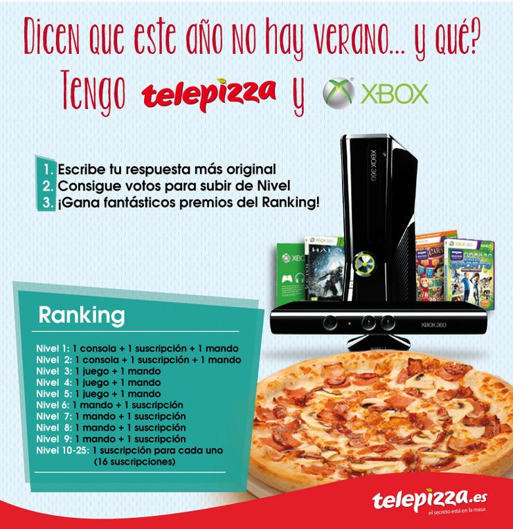 Telepizza sortea consolas, juegos, mandos y suscripciones.