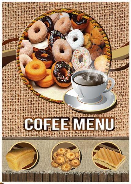 Menú para cafeterías editable en formato psd