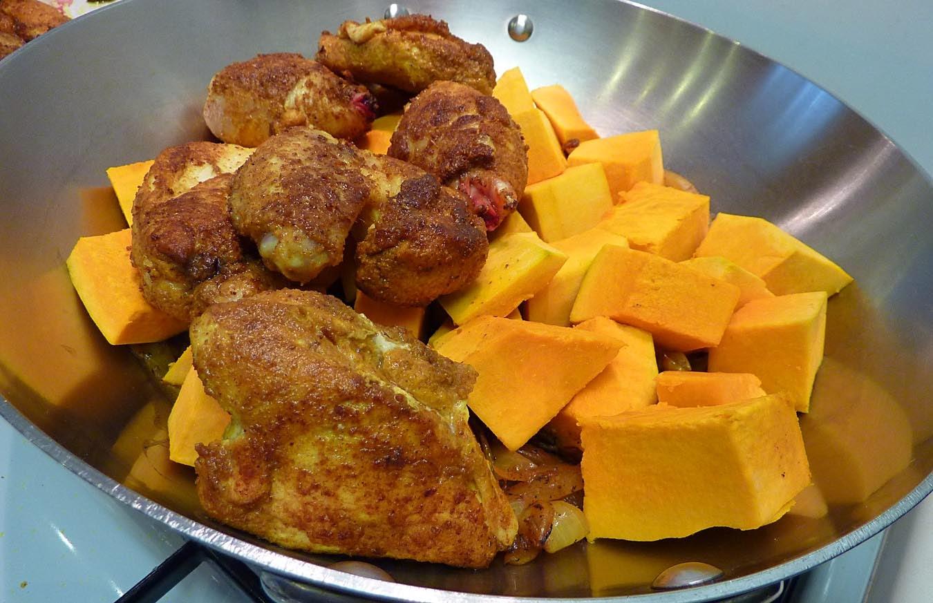 Living the life in Saint-Aignan: Tajine de poulet et de courge