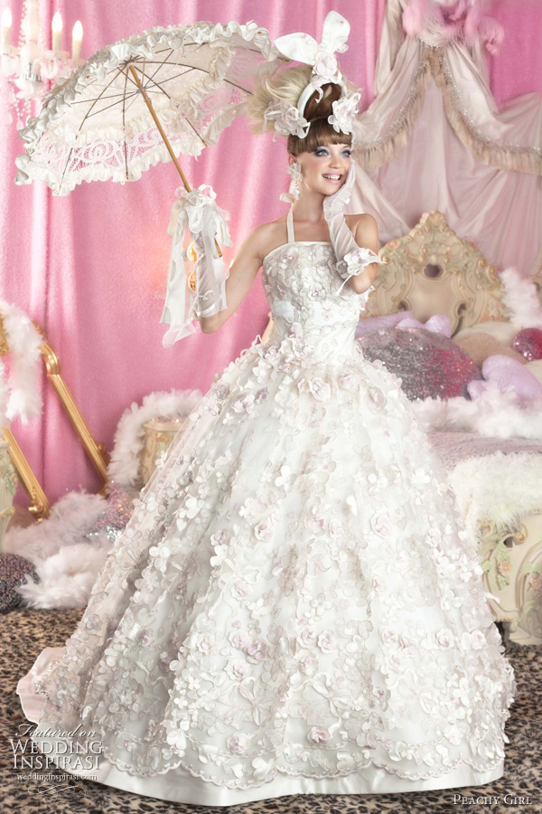 glamour and bold flava beautiful girl pink wedding dresses