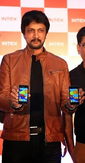 #Sandalwood star Sudeep launches new #Intex Aqua Style smartphone priced
