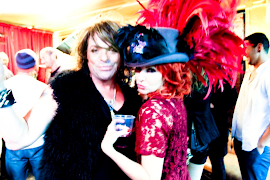 "Gretchen B in Donato Style Design Hat & Cosmo ""The Queen of Melrose"""