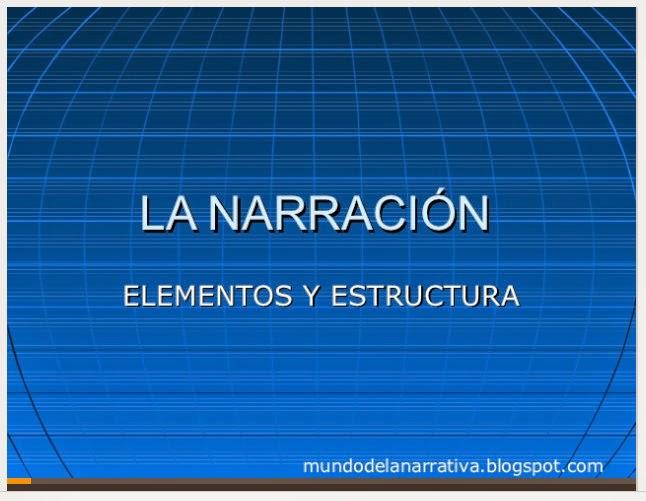 http://es.slideshare.net/MundoDeLaNarrativa/la-narracin-elementos-y-estructura?related=1