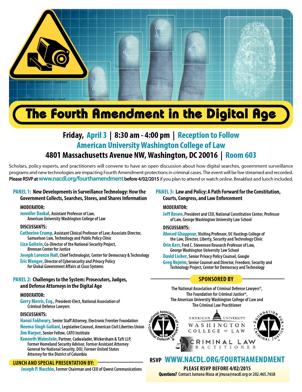 Friday, April 3, 2015: The Fourth Amendment in the Digital Age