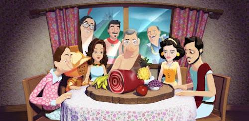 Fotograma da  vinheta de abertura da temporada 2013 do seriado A Grande Família da TV Globo