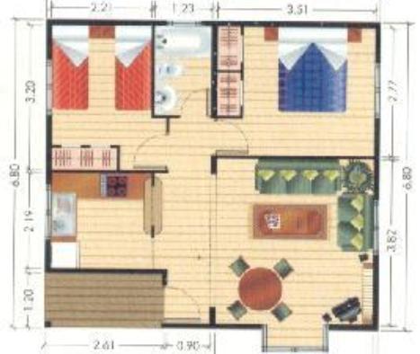 Planos casas modernas planos de casas de 40 metros cuadrados for Como decorar un piso de 40 metros cuadrados