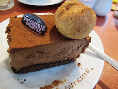 chocolate cake at patisserie Valerie in Bath