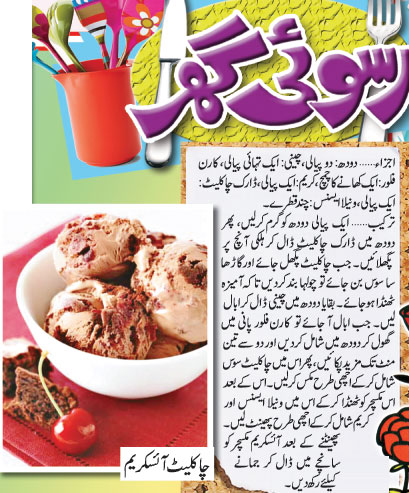 Chocolate Ice cream Recipe In Urdu
