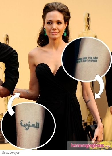 Choosing Tattoo Angelina Jolie Tattoos In Wanted