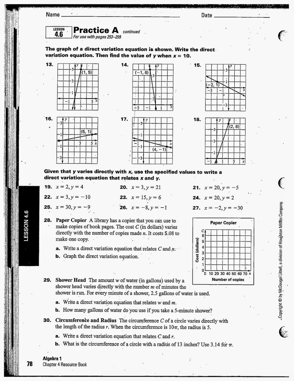 Heidemann 8th grade math october 2014 the assignment for hw tonight will be to complete the notes for section 47 which is the last of chapter 4 falaconquin