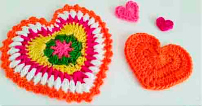 Crochet Stitches Step By Step : ... Crochet a Heart (multi-stitch) - Tutorial step by step Crochet-Here