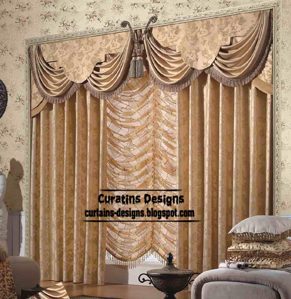 Unique living room curtain design and butterfly valance style for Living room curtain ideas
