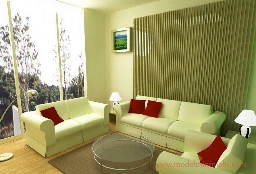 memilih cat interior ruang tamu minimalis terbaru