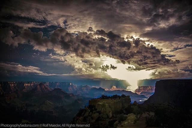 poderosas tormentas electricas Gran Cañon