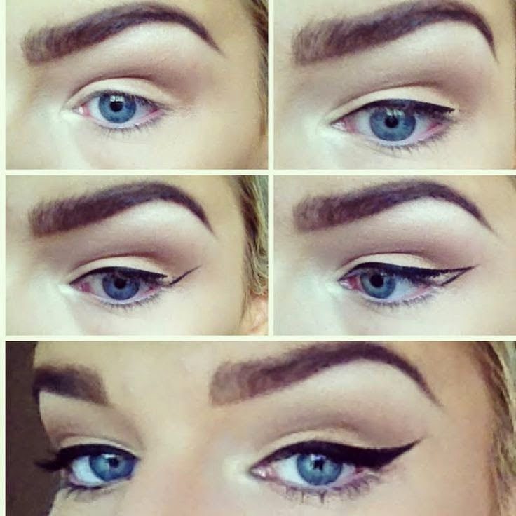 natural looks winged eyeliner tutorial   b amp g fashion