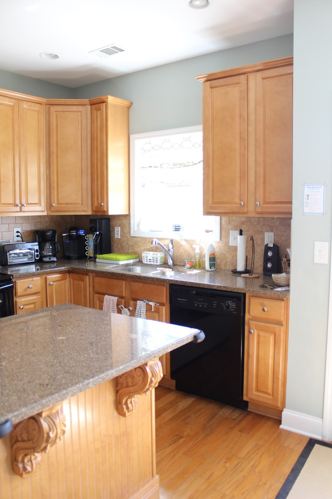 Update Kitchen Ten June How To Update A Rental Kitchen With Peel Stick Tile