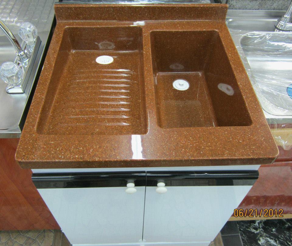 Muebles para ba o y cocina en policuarzo y fibra de vidrio for Lavadero para bano