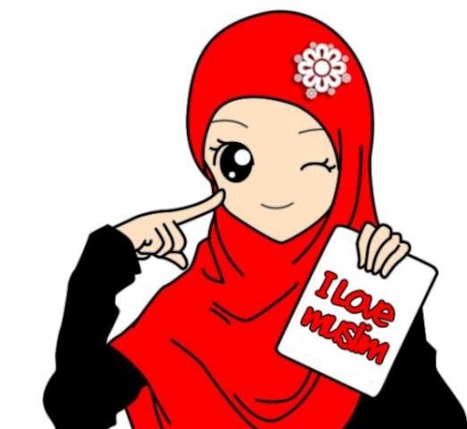 gambar kartun anak perempuan muslimah pictures to pin on