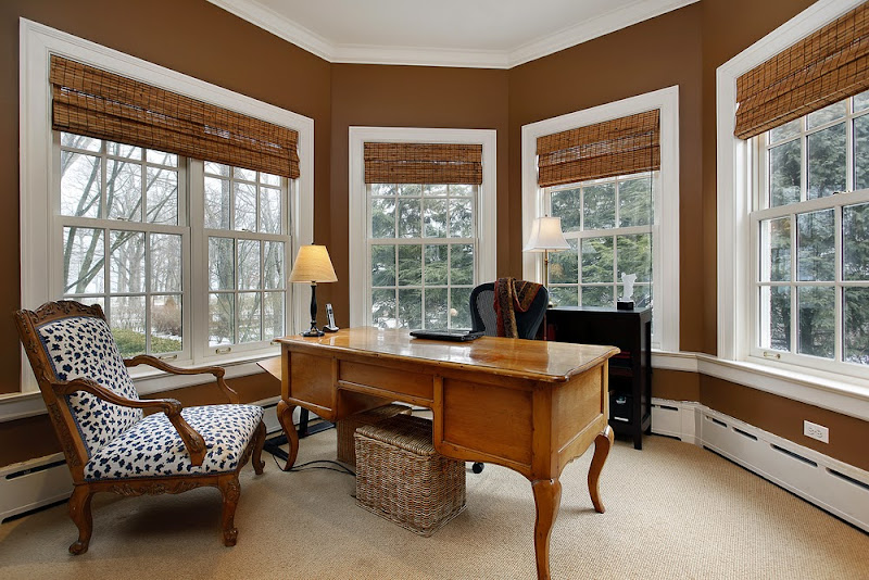 Home Office with Large Window