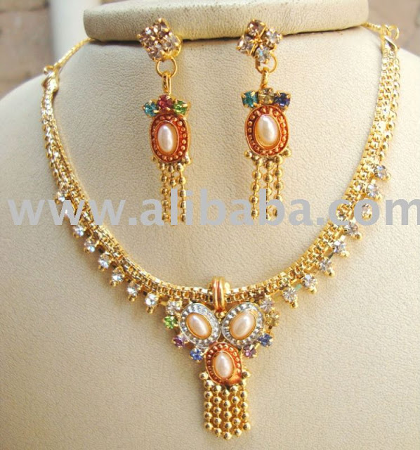 Imitation Jewellery World Fashion Jewellery: Imitation Jewellery World: ARTIFICIAL NECKLACE SET