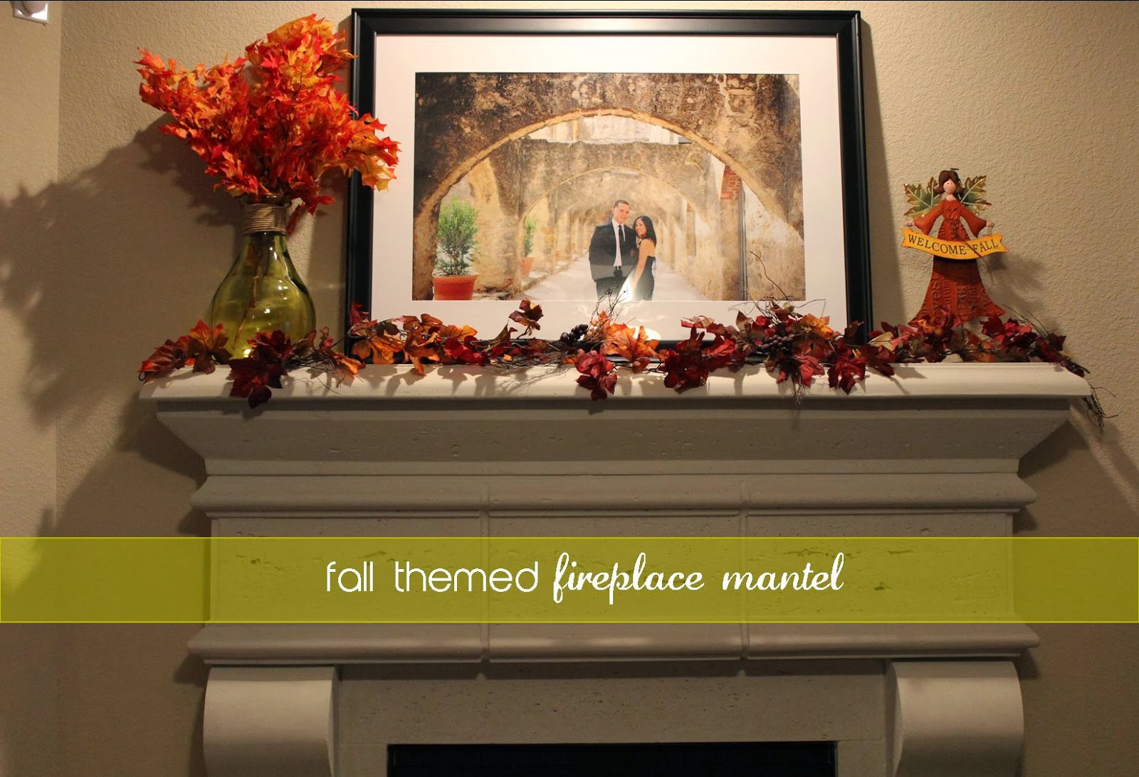 Domesticated Diva Home Sweet Home Fall Themed Fireplace