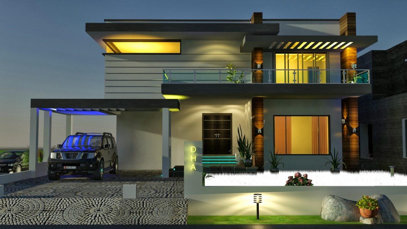 Elevation together with 3D Beautiful House Designs moreover 10 Marla ...