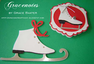 Two Different Skates, tags by Grace Baxter