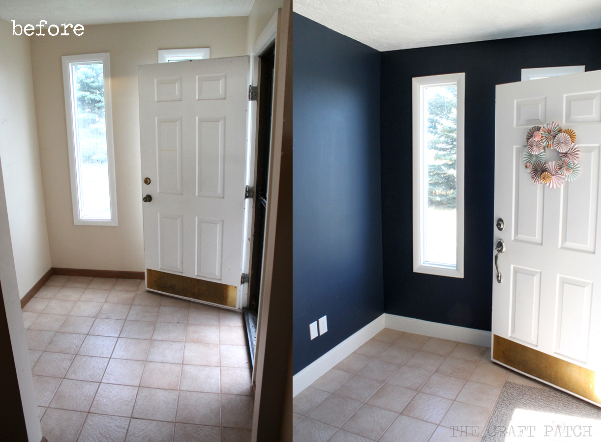 Blue Foyer Paint : Entryway makeover part the power of paint