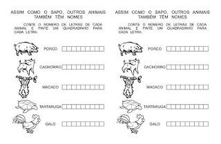 Atividades para Alfabetização - Pinte um quadrinho para cada letra