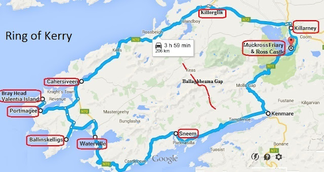 Ring Of Kerry Tour Map