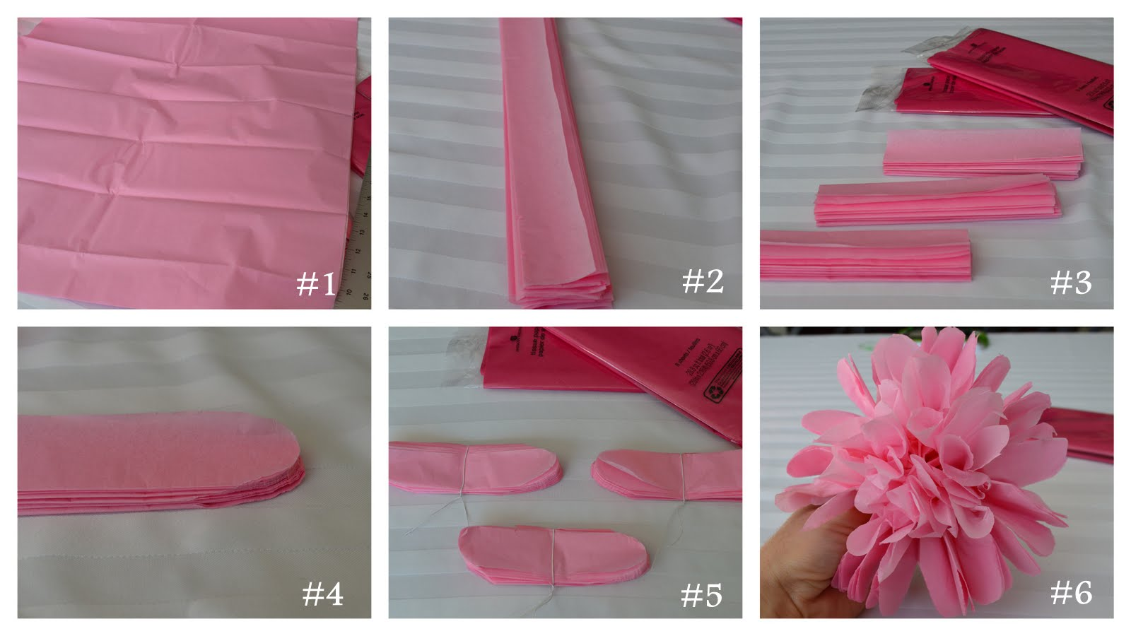 how to make tissue paper flowers step by step How to make a tissue paper flower( napkin flower) easily.