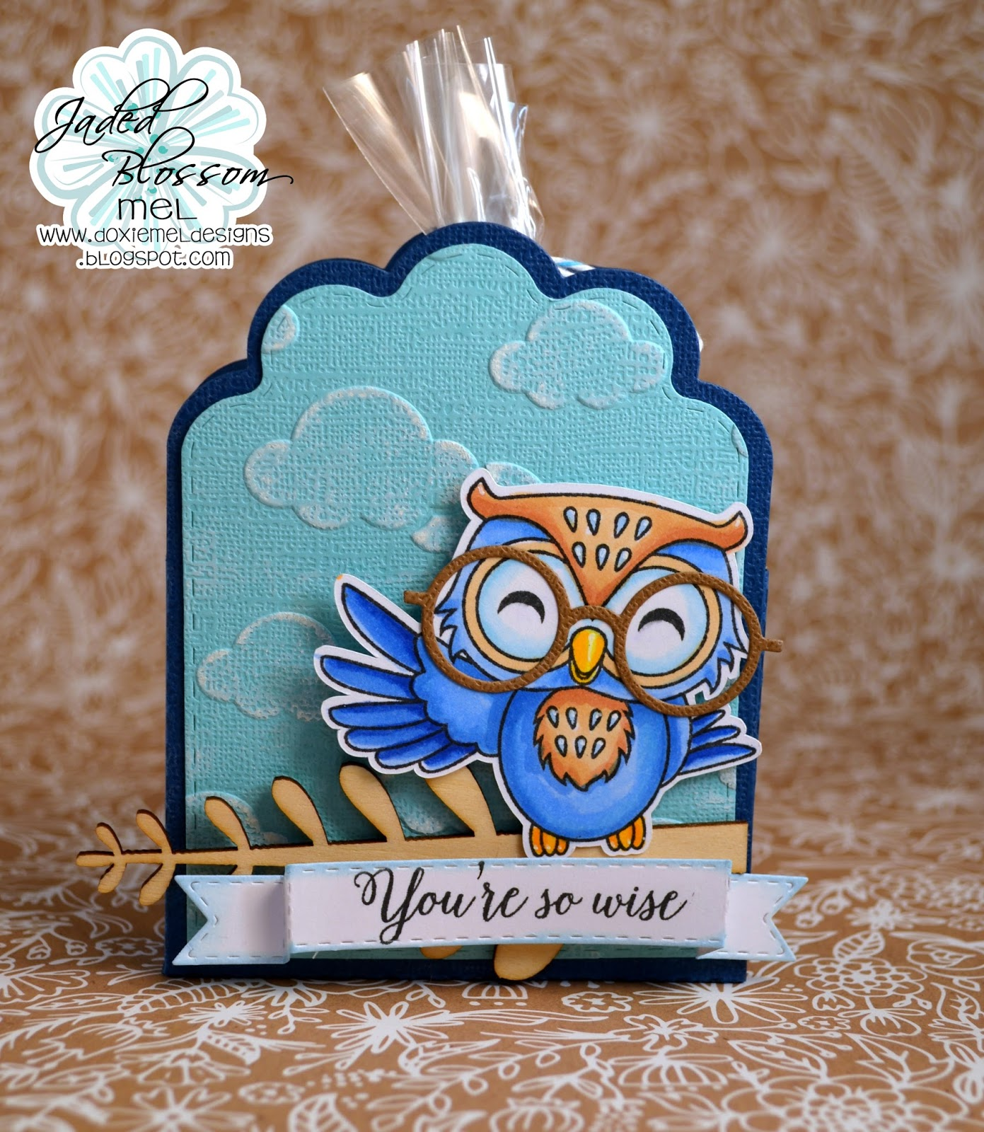 I Used The NEW Youre A Hoot Set And Scallop Caddy Die Glasses From Jaded Blossoms Mustache Dies Must Have For Wise Owl