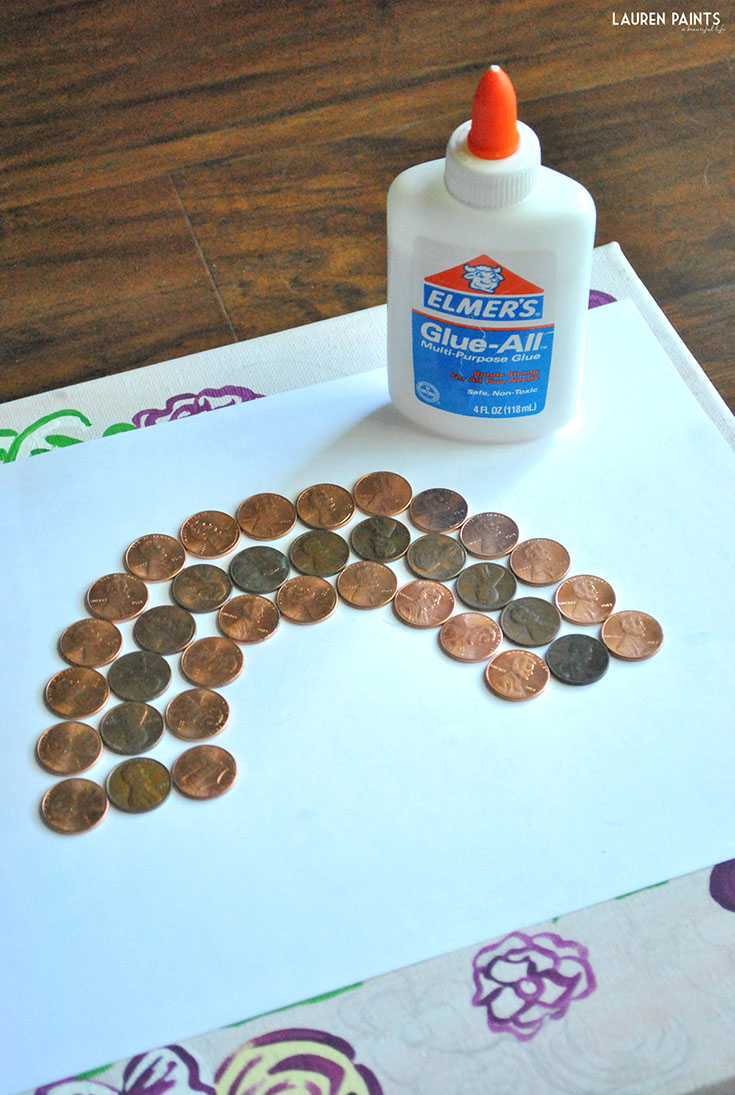 Lucky Penny Rainbow St. Patrick's Day DIY Project