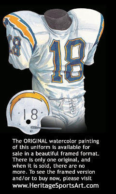 San Diego Chargers 1965 uniform