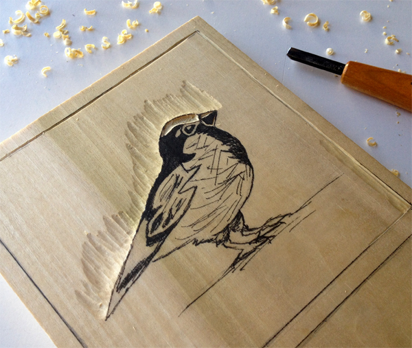 diy woodblock printing 1