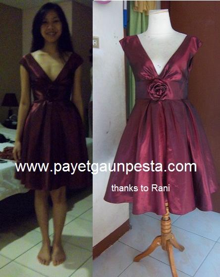 Pictures Of Payet Gaun Pesta Batik Tulis Dan Brokat Untuk