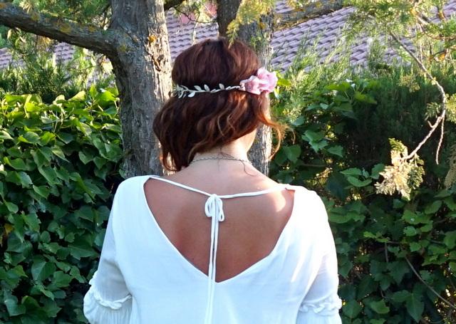 Vestido blanco espalda abierta