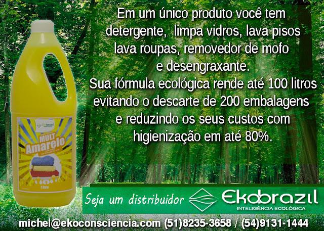 Multi Amarelo MultiUso limpeza ecológica Ekobrazil EkoConsciencia