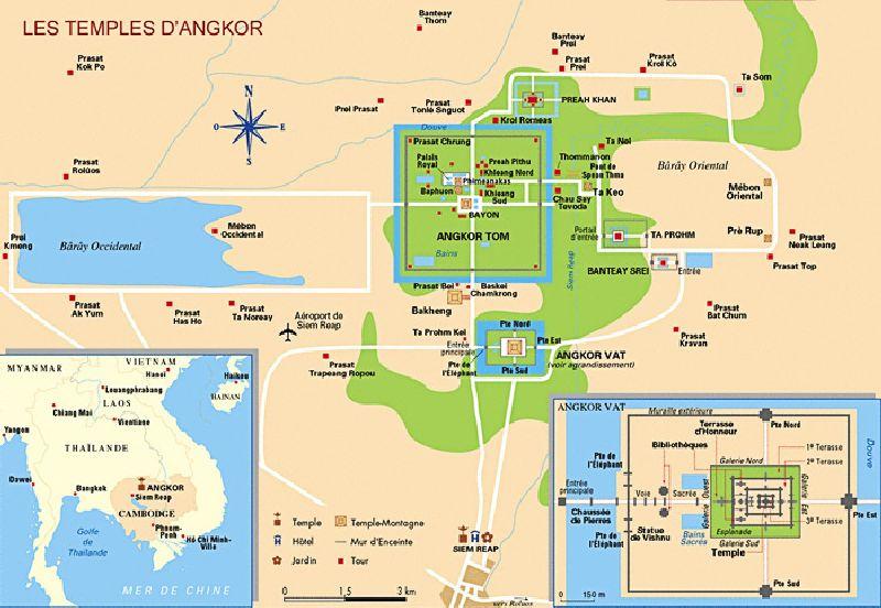 Map Cambodia Angkor Wat