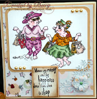 Shopaholics card created by Beccy