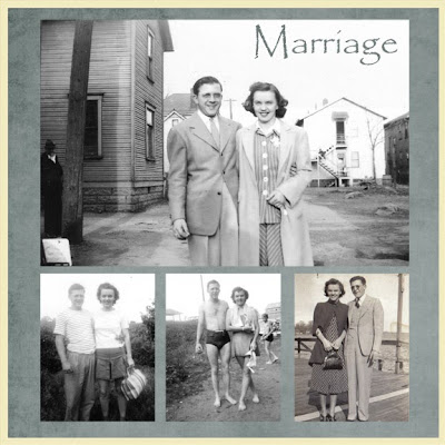 Heritage Scrapbook page: My Grandparents
