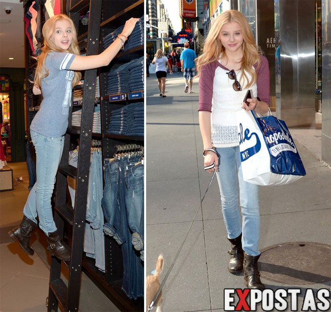 Chloe Moretz fazendo compras em uma loja da Aeropostale em New York City - Agosto de 2012