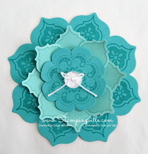 Stampin' Up! Mosaic Madness flower