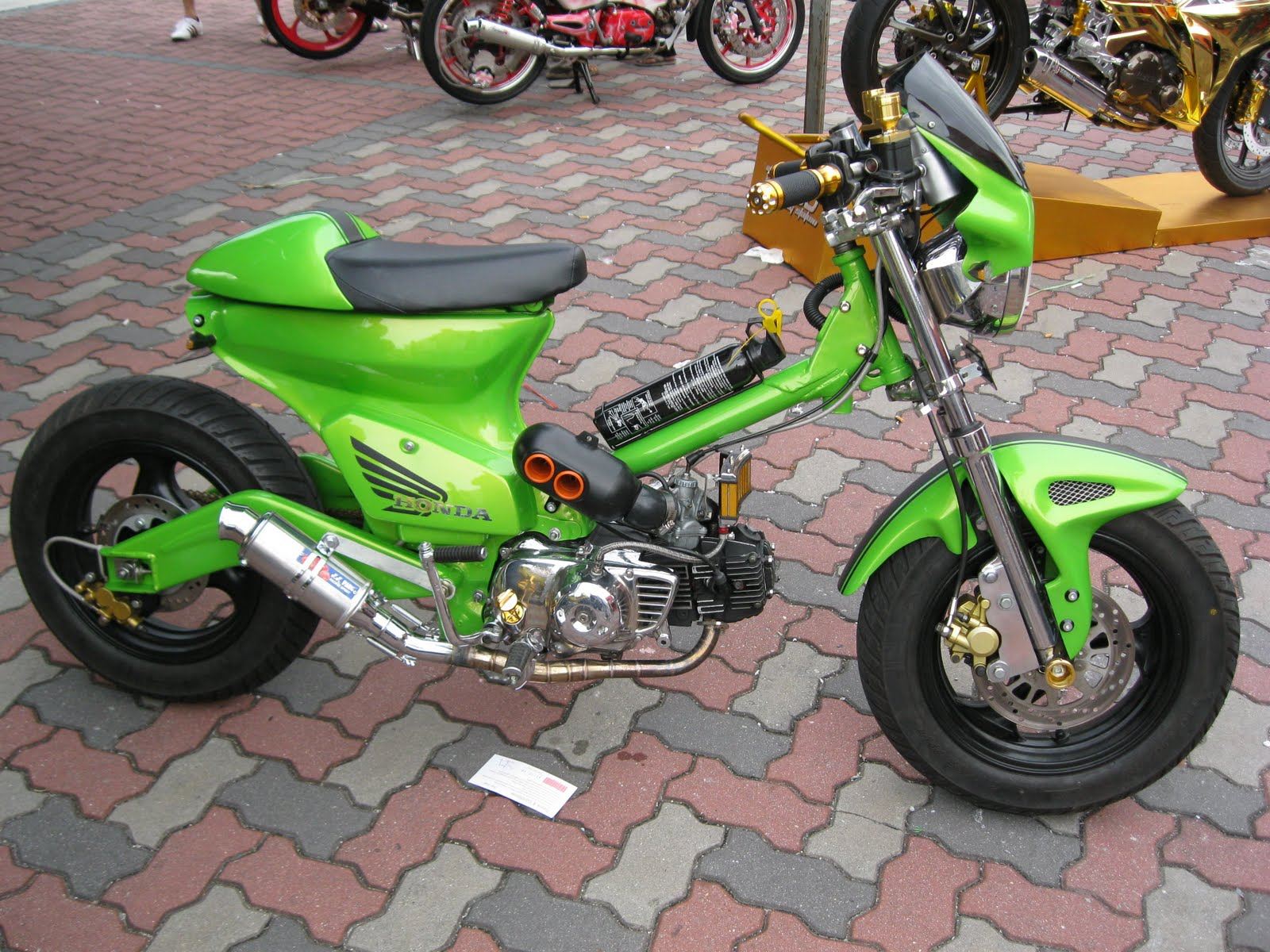 gl 125 modifikasi supermoto ceper metic cb100 oto trend modifikasi title=